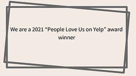 People love us on Yelp award winner