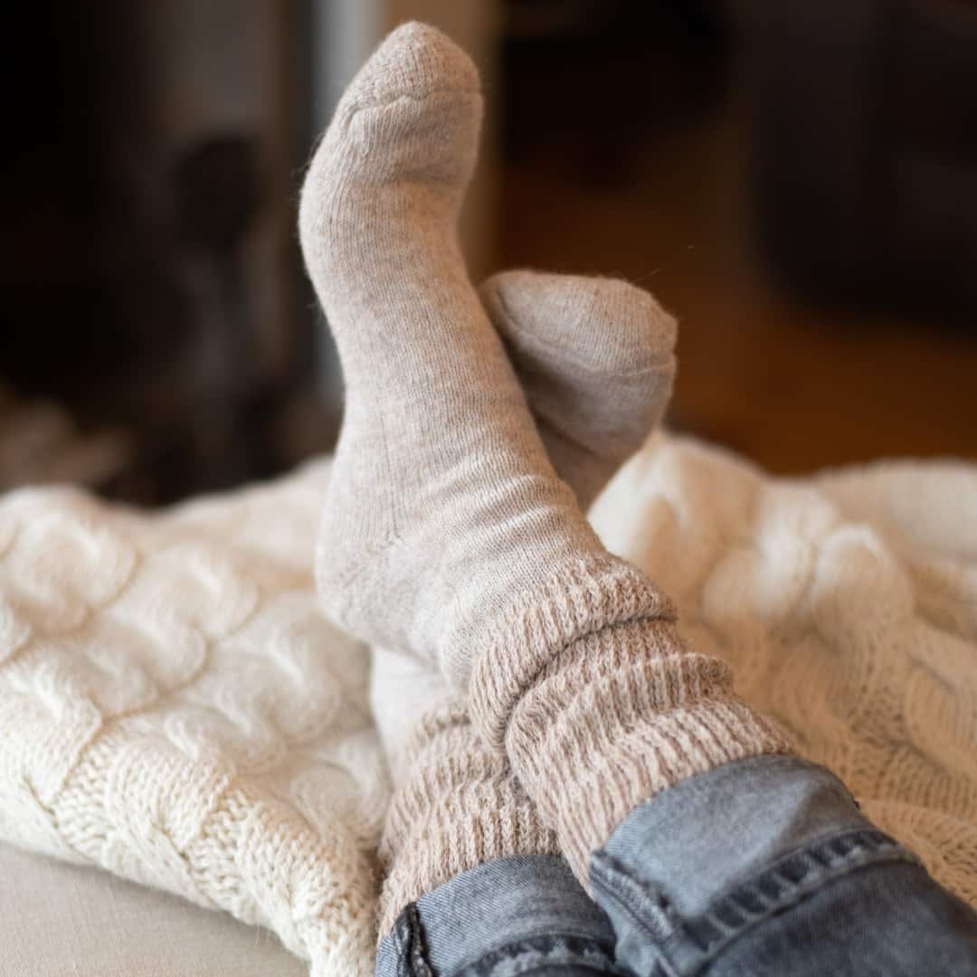 hypo allergenic alpaca socks